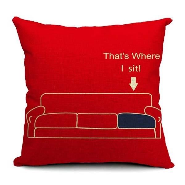 sheldon 39 s spot the big bang theory cushions covers jim parsons cushion cover sofa chair. Black Bedroom Furniture Sets. Home Design Ideas