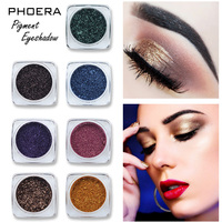 PHOERA Glitter Eye Shadow 12 Colors Loose Powder Pigments Shimmer Monochrome Eyeshadow Waterproof Makeup Metallic Powder TSLM2