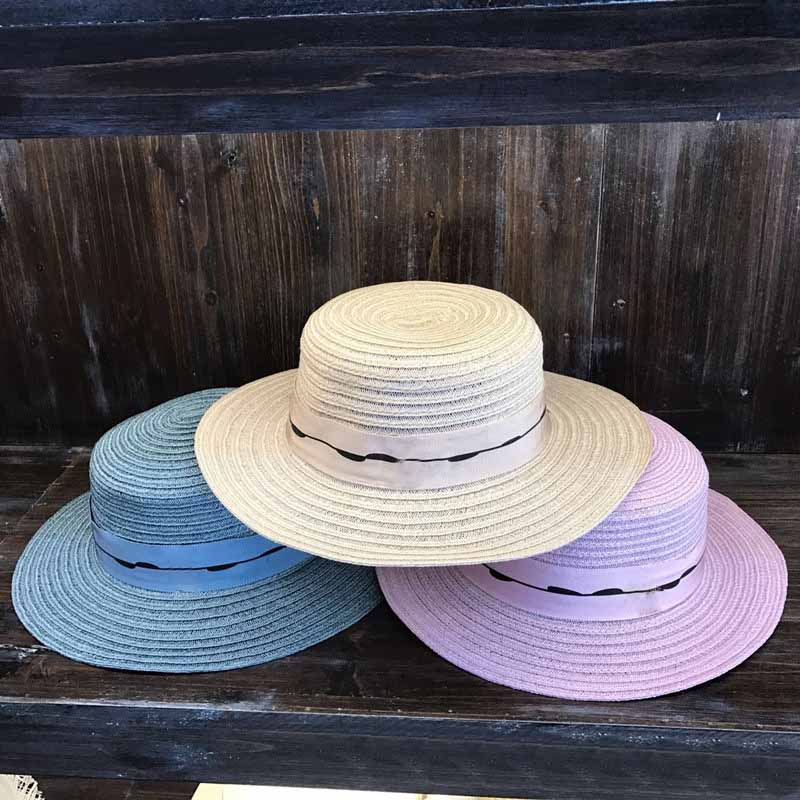 QPALCR 2018 New Womens Flat Top Straw Hat Summer Ladys Taiwan Hemp Sun Hat  High Quality UV Protection Visor Caps-in Sun Hats from Apparel Accessories  on ... 8f97ccc8eba5