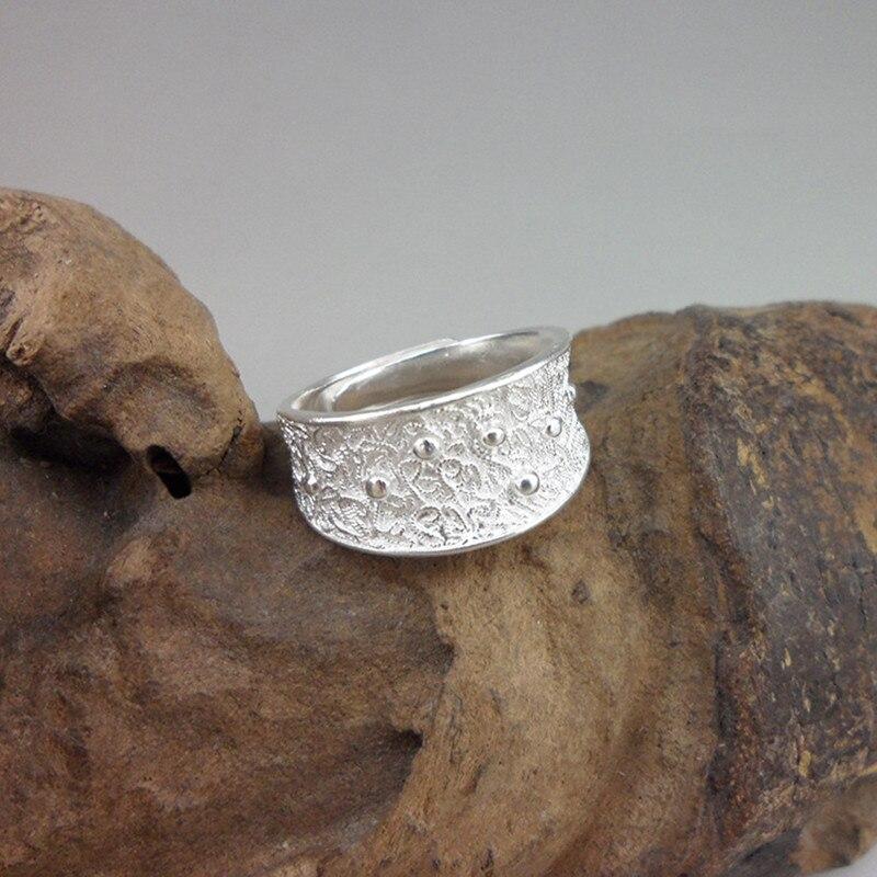 Bagues de luxe pour hommes bijoux 999 en argent Sterling pur fait à la main ethnique Vintage garçon xxx cadeau d'anniversaire père Antique 004 anneau