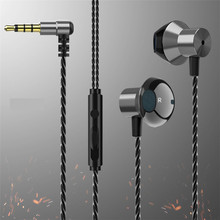 3.5mm Wired Earphone Control Stereo Sports Headphones Music Earbuds With Microphone Game For Xiaomi Huawei Samsung sh*
