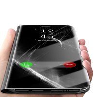 For Samsung Galaxy S9 Plus Case Flip Cover Mirror Stand Original Smart Chip Clear View For