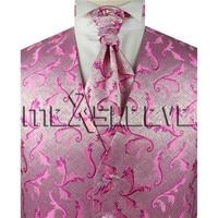 Heißer verkäufer!!! mann anzug rosa hochzeit westen 4 stücke