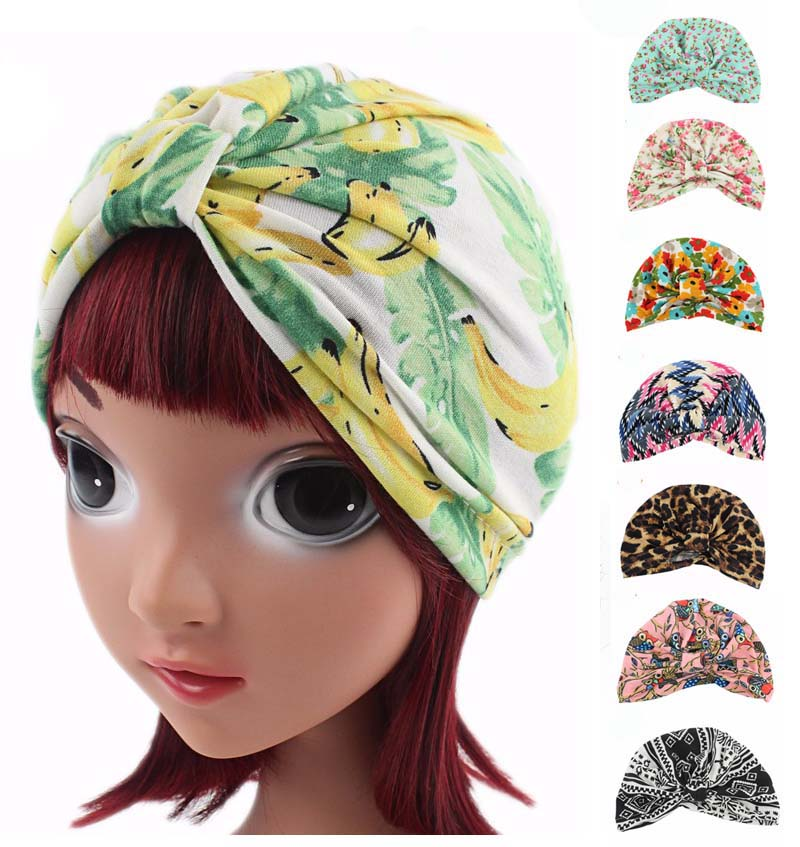0c320971fb2 Detail Feedback Questions about NEW Child Floral fruit print Soft stretchy  cotton Turban kids girls Headband Head Wrap Knotted Hair Bands on  Aliexpress.com ...