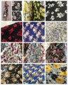 polyester chiffon printed fabric material for dress christmas fashion shade color chiffon fabric for dress