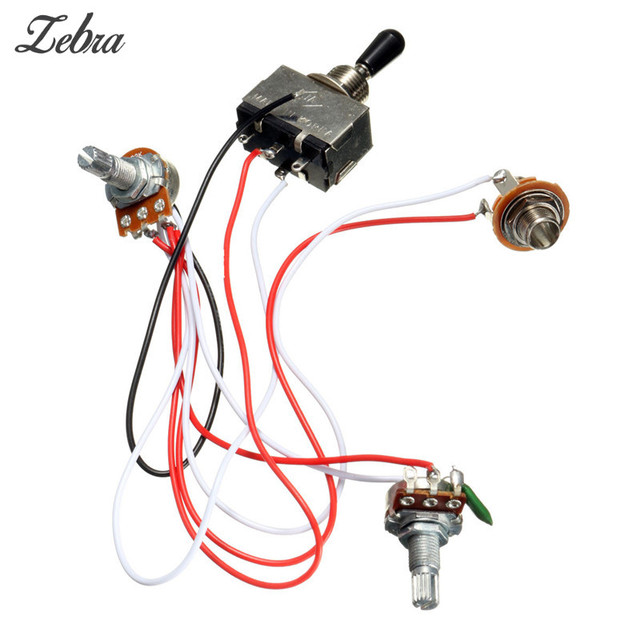 Hot Sale Electric Guitar Wiring Harness Kit 3 Way Toggle Switch 1 ...
