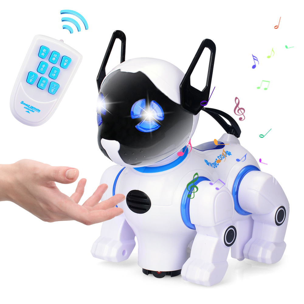 все цены на RC Armored Dog Remote Control Smart Dog Electronic Educational Children's Toy Robot Toys Singing dancing Touch induction