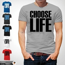 287930fb Choose Life T Shirt Wham Inspired Tee 80s Fancy Dress George Michael NEW  Gray(China