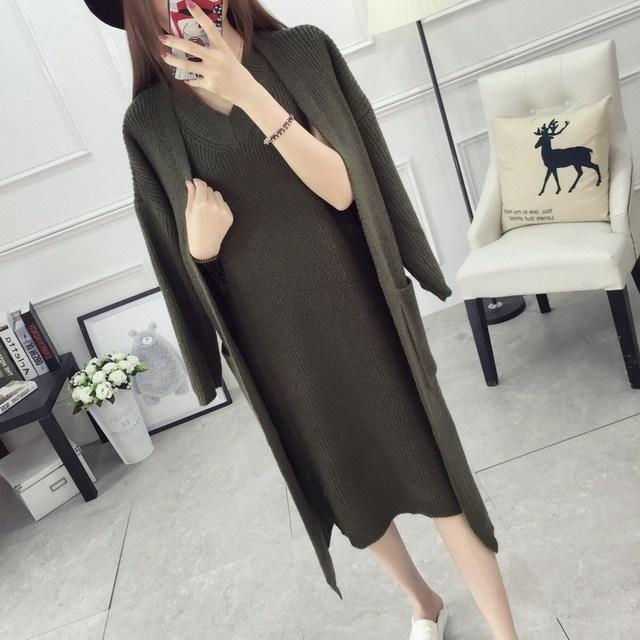 2016 de Dos Piezas De Las Mujeres Embarazadas Suéter Camiseta de la Rebeca Traje Suéter Flojo Coreano de Gran Tamaño Ropa de Maternidad