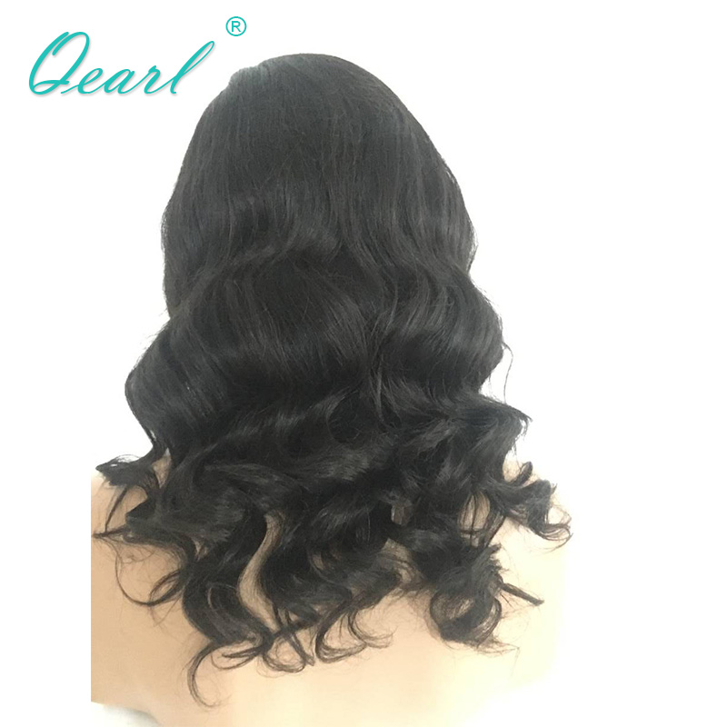 Qearl 180% Thick Density Lace Front Wigs Body Wave Side Parting Human Remy Hair Lace Wig 8-24inchs with Baby Hairs Real Hair