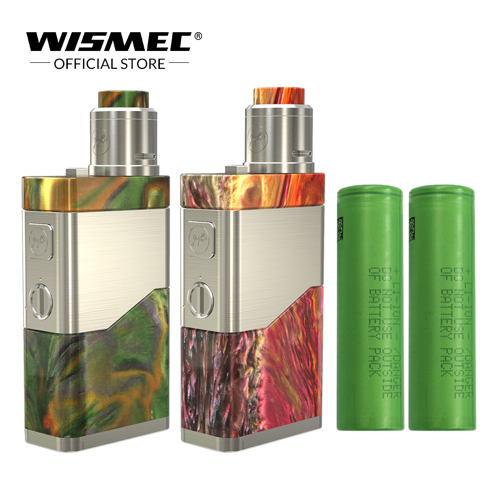 [Official Store] WISMEC LUXOTIC NC Kit with Guillotine V2 RDA Tank 250W Mod with Dual 18650 Battery Premade Clapton coil e cigs