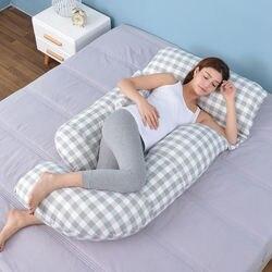 Oreiller en coton multifonction | Oreiller de grossesse et de qualité, coussin de maternité pour le lit, soutien de la taille, oreiller de grossesse