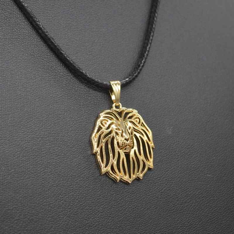 2019 New Arrival Women's Rope Chain Hollow Out Lion Necklaces Jewelry Metal Animal Pendant Necklaces For Lovers Drop Shipping