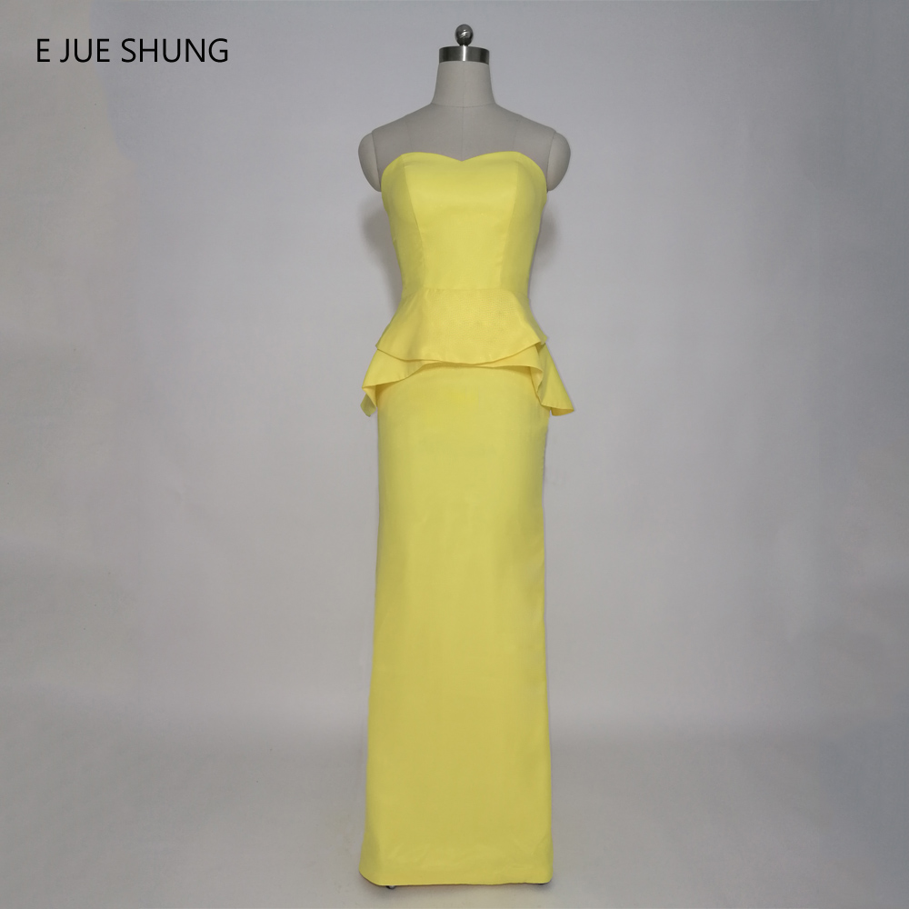 Peplum dress bridesmaid reviews online shopping peplum dress e jue shung yellow chiffon peplum mermaid long bridesmaid dresses 2017 sweetheart cheap wedding party dresses ombrellifo Gallery