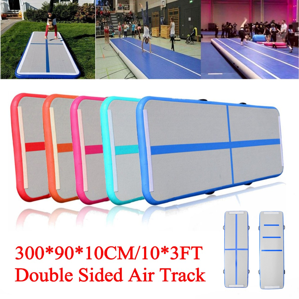 90cm*3m*10cm Inflatable Air Track Floor Home Gymnastics Tumbling Mat GYM Double-Sided Pattern
