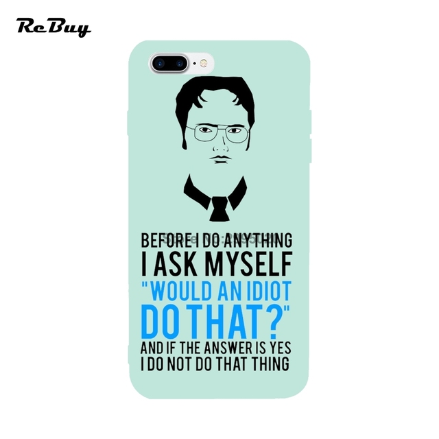 the best attitude e7fc7 e5d54 US $9.0 |The Office Dwight Schrute Tv Series For Iphone Cases 6/6s/6s  plus/6plus Soft TPU For Iphone 7plus Case Glaze Covers For Iphone 7-in  Fitted ...