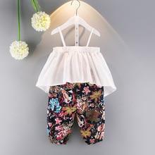 2017 Baby Girl Fashion Summer Clothing Set White Shoulder T font b Shirts b font Flower