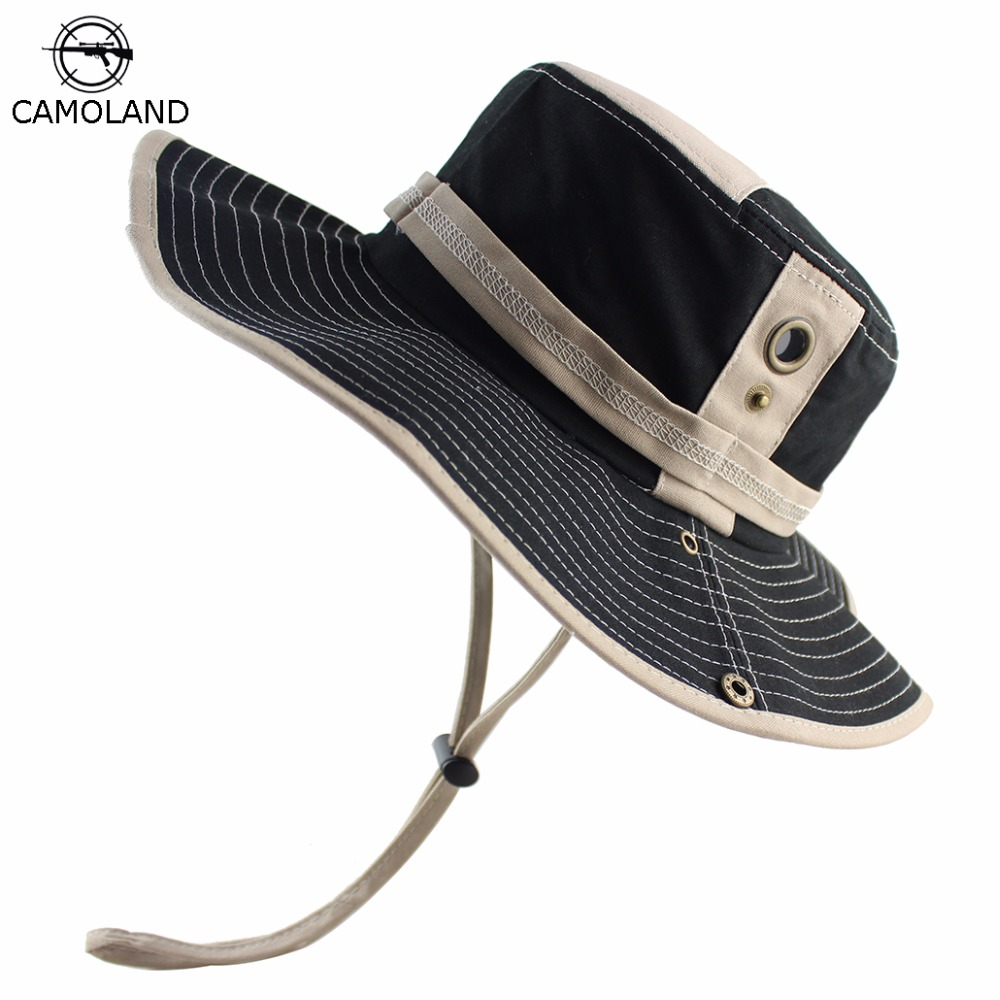 100% Cotton Bucket Hat Summer Spring for Men Women Fishing Boonie Hat UV  Protection Sun 77d0c3cb644c