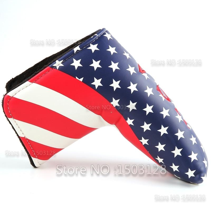 Neue USA Amerikanische US Stars and Stripes Buntes Golf Putter Cover - Golf - Foto 2