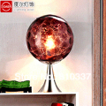NEW 20cm fashion winered glass earth style table lamp light lighting E27 bedroom dining room study free shipping