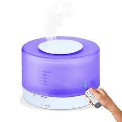 Hurtownie 500 ml zdalnego sterowania powietrza Aroma ultradźwiękowy nawilżacz powietrza z kolorów doprowadziły światła elektryczne aromaterapia OLEJEK ETERYCZNY dyfuzor