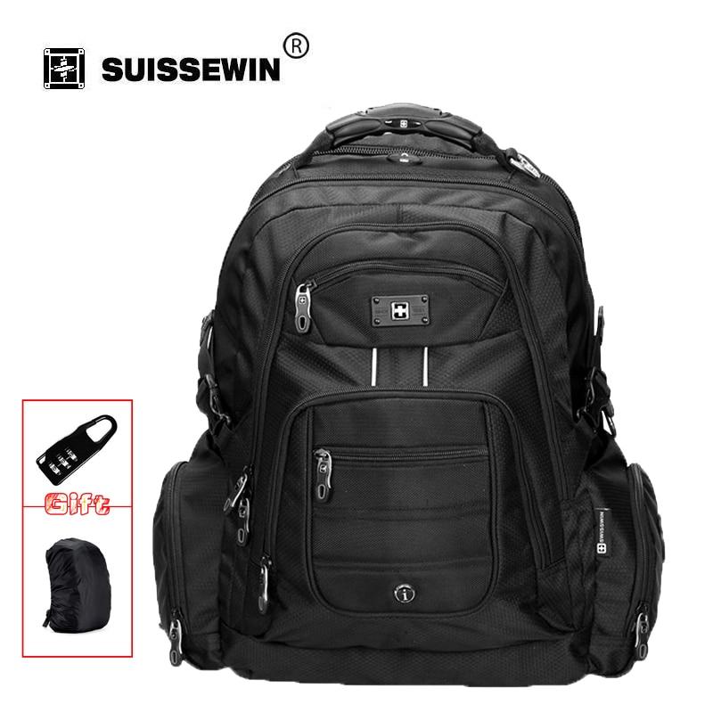 Swisswin men's 15.6' laptop notobook backpack waterproof nylon computer bag business big travel bagpack mochilas SW9801