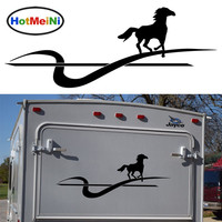 Running Galloping Horse Graphic Hard Work Topic Car Sticker Motorhome Caravan Travel Trailer SUV Campervan Dynamic
