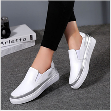 High Quality Women Genuine Leather Shoes Slip On Flats Shoes