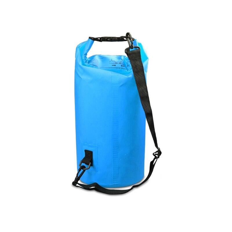 PVC 5L 10L 20L Outdoor Diving Compression Storage Waterproof Bag Dry Bag For Man Women Swimming Rafting Kayak 4