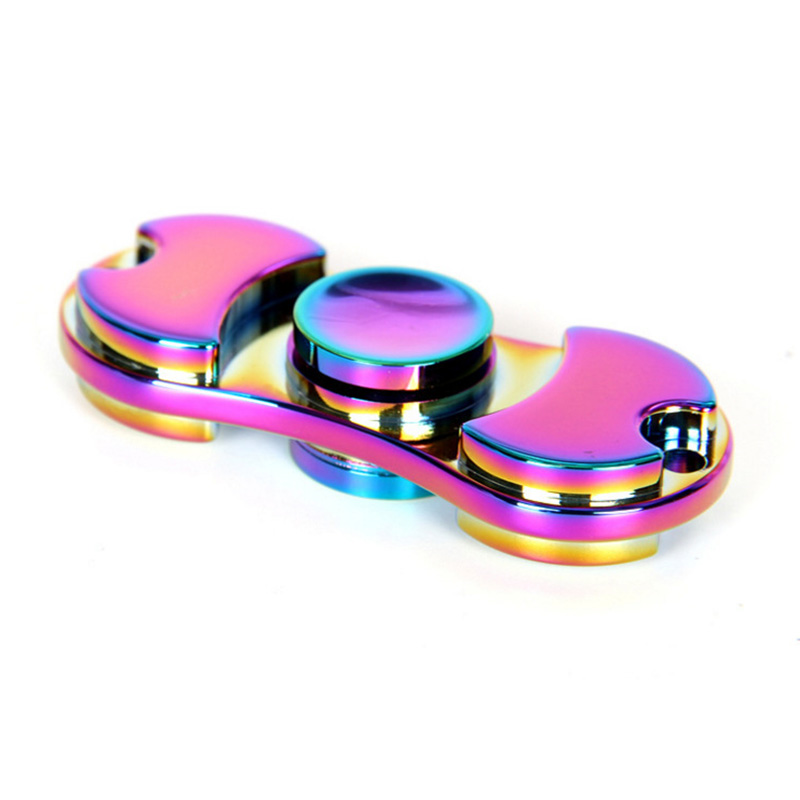 New Pattern Colorful Hand Tri-Spinner Fidgets Toys Torqbar Alloy EDC Sensory Fidget Spinners For Autism And Kids/Adult Funny Toy