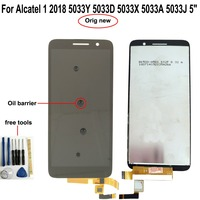 """1 5 lcd Shyueda 100% Oig NEW For Alcatel 1 2018 5033Y 5033D 5033X 5033A 5033J 5"""" LCD Display Touch Screen Digitizer  wth tools (1)"""