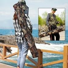 Sougayilang Large Capacity 80/120cm Length Nylon Material Fishing Bag Camouflage Two Layer Brand Fishing Rod Bag Fishing Tackle