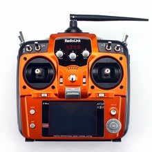 RadioLink with R12DS Receiver AT10 II 2.4Ghz 10CH RC Transmitter PRM-01 Voltage Return Module for RC Drone Quadcopter