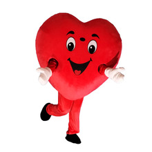 High quality red heart love mascot costume LOVE heart mascot Cosplay