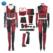Harley Quinn Cosplay Halloween Costumes For Women Game Batman: Arkham City The Joker Outfit Full Set Custom Made Free Shipping цены