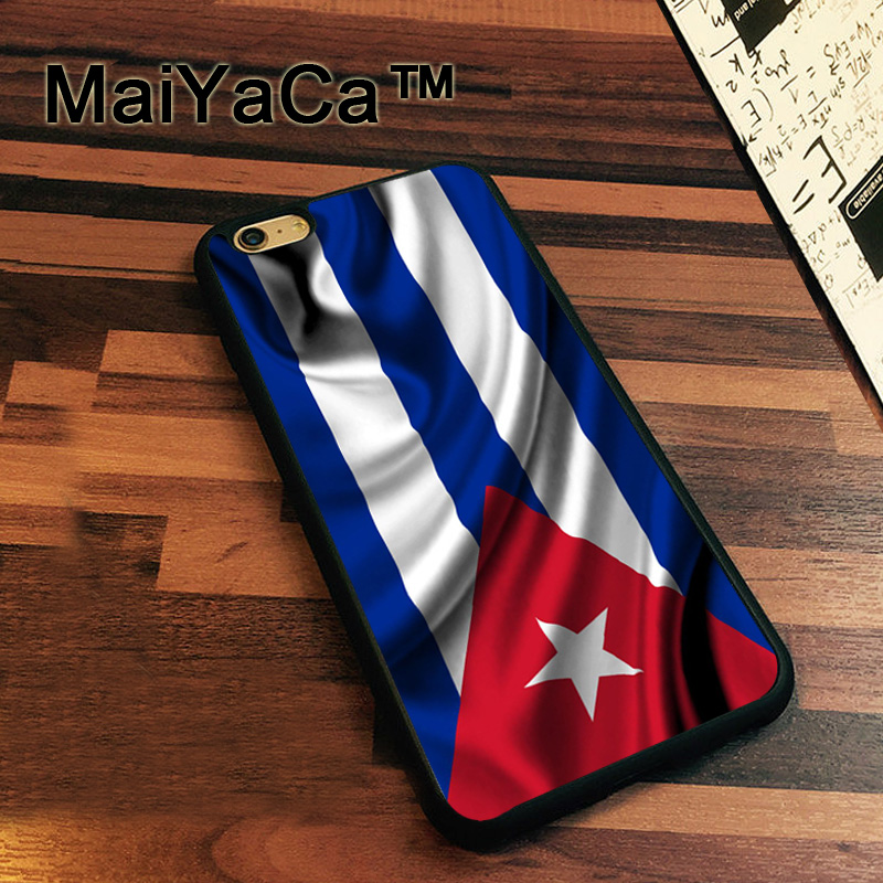 MaiYaCa Cuba Cuban flag Newest Slim Soft TPU Phone Cases For Apple iphone 7 Case 4.7 Cover For iphone 7 Back Bag