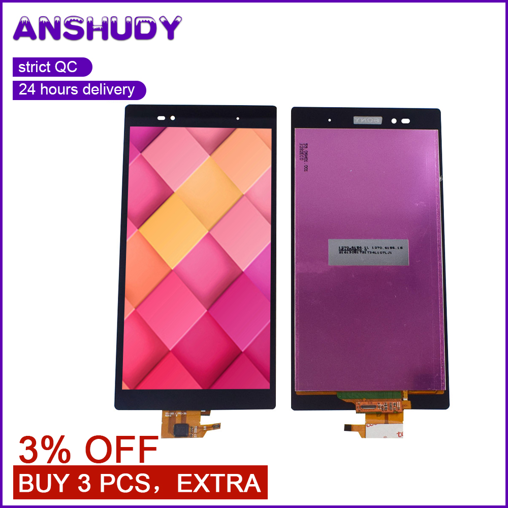For Sony Xperia Z Ultra XL39h LCD Display Touch Screen Digitizer Sensor Glass Assembly For Sony XL39H Display Screen XL39 C6806