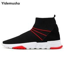 Yidemusha hombres Fly-zapatos de punto para hombre zapatillas tamaño 39-44  moda masculina 50bf2eb3e21