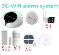 3G WI FI сигнализации Системы Беспроводной дома Охранной Сигнализации Системы Поддержка IOS приложение для Android датчик дистанционного управлен