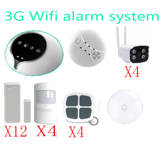 3G WIFI Alarm System Wireless Home Security Alarm System Support IOS Android APP  remote control sensor with outdoor 720P camera baby monitor camera wireless wifi ip camera 720p hd app remote control smart home alarm systems security 1mp webcam yoosee app