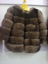 short section of the real natural fox  fur coat