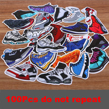 100pcs/set Funny SNEAKER Basketball Shoe Waterproof Stickers For Suitcase Refrigerator Skateboard Laptop Decal Sticker(China)