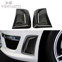 For Mercedes Benz C Class C63 W204 C260 AMG Carbon Fiber Inlet Air Gate Front Bumper Air Gate