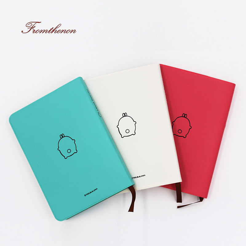 Fromthenon 2019 Cute Kawaii Notebook Cartoon Dejlig Dagbog Journal Planner Notesblok til Gave Korean Stationery Colorful Inner