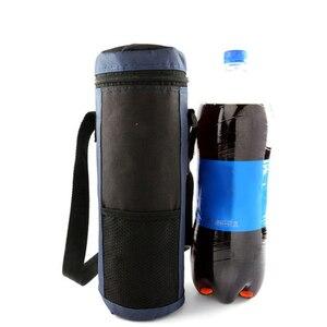 Image 2 - 2 szt. Cylinder torba termiczna izolowane napoje wodne butelki/puszki torba do przenoszenia lodówka turystyczna pojemnik na żywność czerwony + niebieski