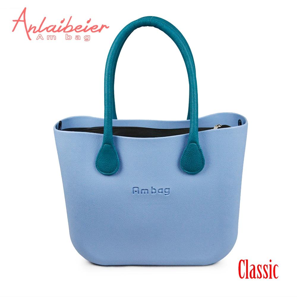 ANLAIBEIER Obag O Bag Style Waterproof  Classic Ambag Women's DIY EVA Handbag With Lining Insert Colorful Leather PU Handles