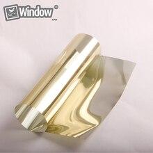Espejo de oro 15% Tinte Casa Solar 1.52 m x 0.5 m Oro tono Reflexivo