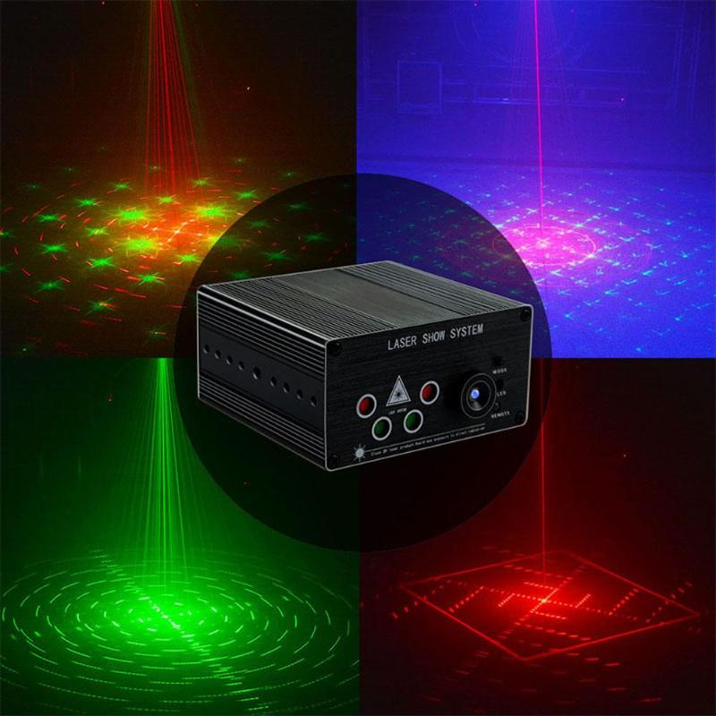 Voice Control Laser Light Home KTV Party Bar Disco Light Dancing Stage Decorative Lighting Lamp Christmas Decorations for Home w188a led rgb voice control stage light lamp for ktv bar party white