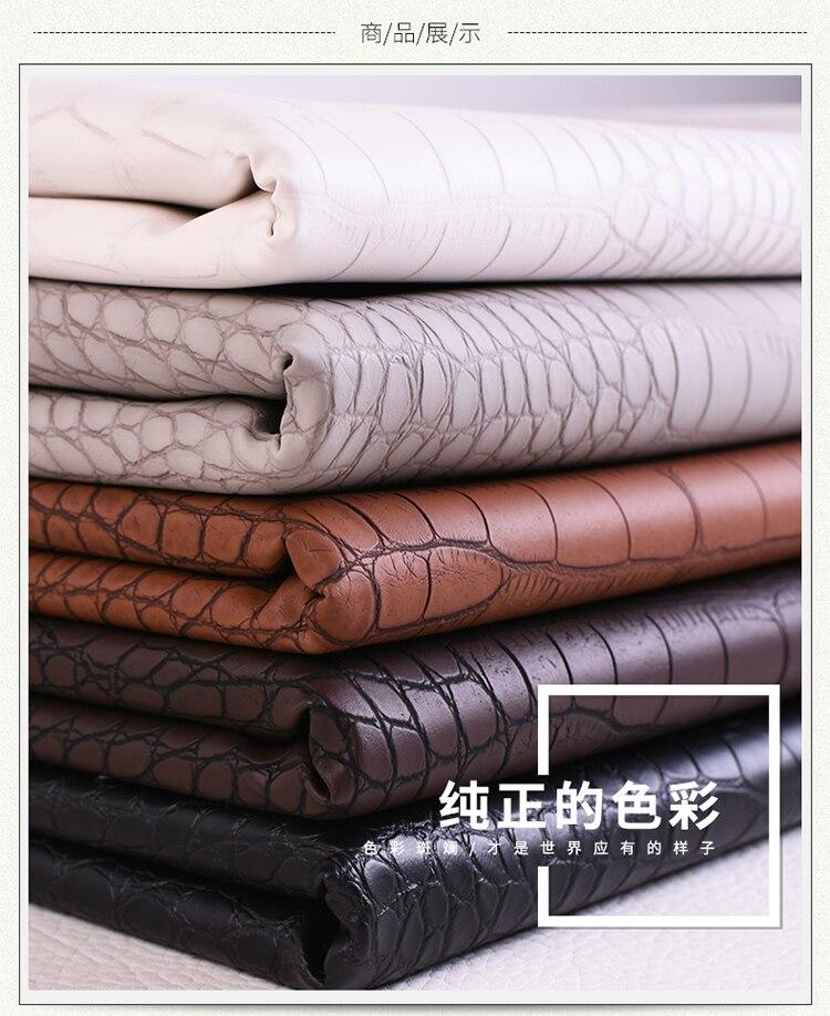 Pvc crocodile pattern leather fabric luggage furniture waterproof hard bag artificial handmade diy imitation 1M