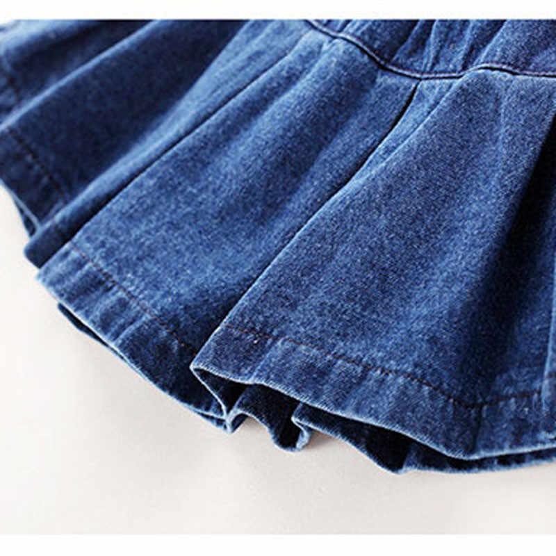 3e25e2dfc Fanfiluca faldas de bebé niña falda sólida de mezclilla ropa de moda de  otoño para niñas falda de Jean niña ropa de niños